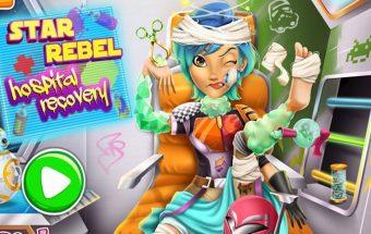 Gydymas - žaidimas mergaitė ligoninėje