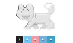 Pixel Art žaidimai, spalvinimas vaikams