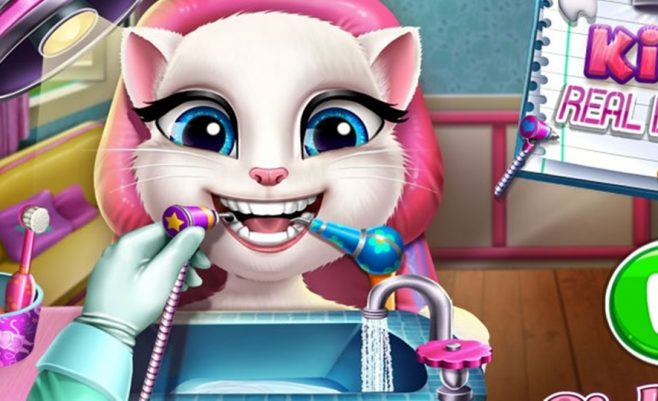 Kalbanti Angela pas dantistą.
