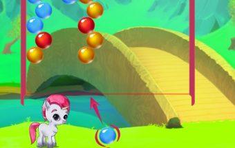 Burbuliukai, burbulų šaudyklė su poniu, žaidimas