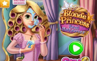 Princesė blondine, rengti mergaites, Y8 žaidimai