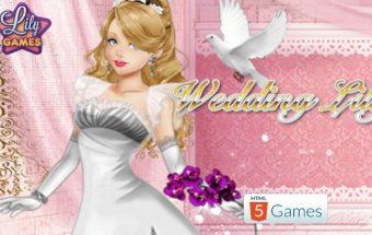 Žaidimas mergaitėms Lilės vestuvės, rengti mergaites Y8