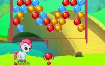 Tai yra loginiai burbuliukai žaidimas vaikams - arkliukas Y8