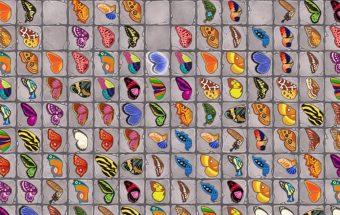 Mahjong ir drugeliai - sujunk 2 paveiksliukai
