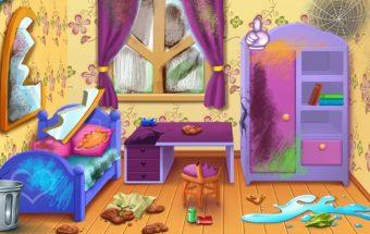 Kambario sutvarkymas - žaidimas mergaitėms