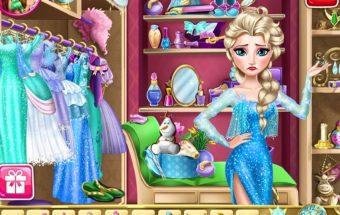 Žaidimas merginoms su Princesėmis - Princesės Elzos stilius