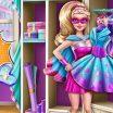 Žaidimai mergaitėms rengti Barbę.