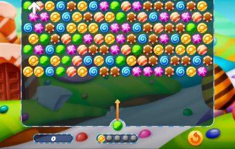 Saldainiai - žaidimas burbuliukai.