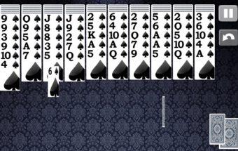 Spider solitaire žaidimas.