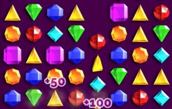 Deimantai sujunk 3 deimantus į liniją.