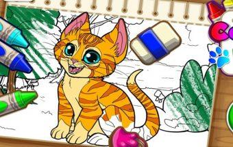 Katinėlis ir jo spalvinimo žaidimai - Y8