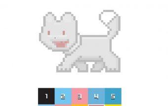 Pixel spalvinimas - paveiksliukas skirtas vaikams.