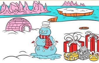 Spalvinimo paveiksliukai Kalėdos ir jų herojai