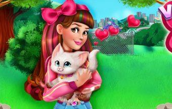 Mergaitė ir kačiukas - žaidimas mergaitėms.