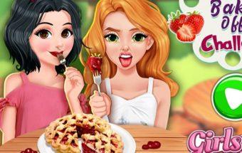 Žaidimai mergaitėms pyrago kepimas.
