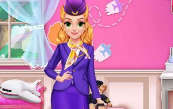 Stiuardesė, lėktuvo mergina.